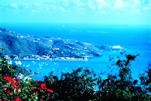 Looking southeast over the Charlotte Amalie Harbor