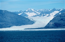 Icy Bay, Yahtse Glacier - current meter by helicopter