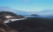 Coastal fog creeping in to Point Sur, about 25 miles south of Carmel