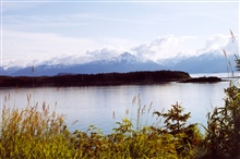 A placid bay in Southeast Alaska