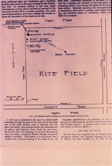 Diagram of kite field at Ellendale Aerological Station