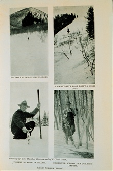 Snow survey work - measuring snow depth to gauge the spring runoffIn: The Boy with the U.S. Weather Men, 1917, p. 56
