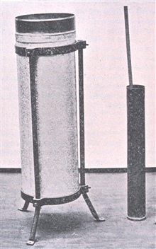 Rain-gauge.In: The Aims and Methods of Meteorological Work by Cleveland Abbe.  In: Maryland Weather Service, Johns Hopkins Press, Baltimore, 1899.  Volume I.  Page 314.
