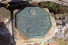 Plaque commemorating Old Cape Henry Lighthouse, the first public works project undertaken by the United States Government in 1791 andwas completed in 1792.