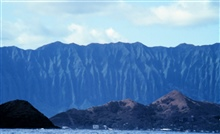 View of Koolau Range from offshore Makapu Point.