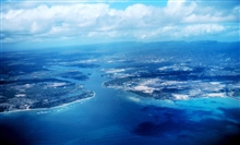 A view of Pearl Harbor from the air
