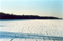 Iced over Patuxent River -looking upriver