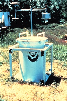 During the early 1980s, NSSL and University of Oklahoma researchers place TOTO(TOtable Tornado Observatory) in the path of an on-coming tornado.It would measure temperature, pressure, relative humidity etc.It would record the data on tape inside the