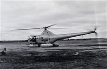 Sikorski helicopter used in vicinity of Kuskokwim Bay.Triangulation party of Curtis LeFever