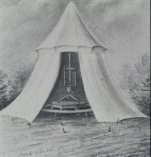 Ferdinand Hassler's observing tent.Probably the original sketch was by John Farley
