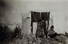 Observing tent used to shelter instrument from the wind.Triangulation party of E. W. Eickelberg