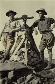 Station Caribou before being struck by lightning.William Scaife on left.Elevation 9816 feet.Triangulation party of William M. Scaife