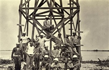 Building crew after finishing the tower.Party off the MARINDUQUE