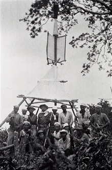A finished large tripod signal - note the guards.Party off the MARINDUQUE