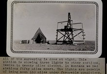 Station Plainview in eastern Montana.Triangulation party of Wilbur Porter