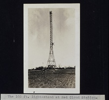 103-foot light stand at Station Red Cloud.