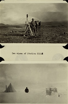 The two views of Station Clear.Triangulation party of William M. Scaife