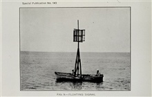A floating signal.Photograph in 1931 Hydrographic Manual