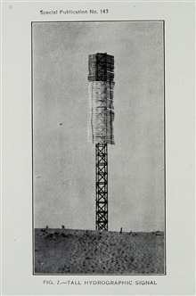 Large hydrographic signal.Photograph in 1931 Hydrographic Manual