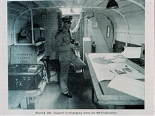 Interior of hydrographic launch from 1942 Hydrographic Manual.EXPLORER Launch