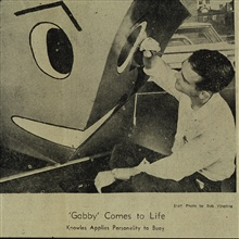 Gabby - the talking current buoy.Gabby getting a new face for a Norfolk, Virginia,  open house.MARMER hosted open house for general public.Article appeared in Norfolk Ledger-Star on November 13, 1963