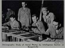 Marine photographic intelligence work.Photo from article in Military Engineer