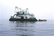 A chata lighter is used to transfer the catch from the fishing boat to theprocessing plant.