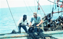 Working together to secure the harvest of shrimp off the THREE SONS