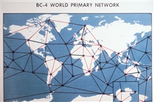 The satellite triangulation world-wide network.  Notice void in Soviet Union andadjacent Communist bloc countries as the Cold War was at its height duringthese years.