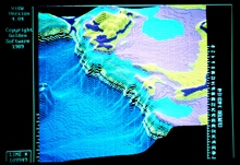Map from NOAA Exclusive Economic Zone Mapping Project.Small portion of Sigsbee Escarpment north of Green Knoll