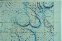 3-D image from NOAA Exclusive Economic Zone Mapping Project.Detail of NE corner of Mitchell Dome map