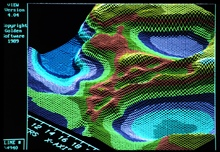 3-D image from NOAA Exclusive Economic Zone Mapping Project.Basins on the Texas-Louisiana Slope