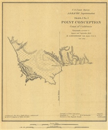 Annual Report 1850. Sketch J No. 3. Point Conception Coast of California.