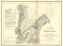 Annual Report 1851. A No.4 Harbor of Refuge No. (no number assigned) . TheHarbor of Holmes' Hole.  Published in 1847.