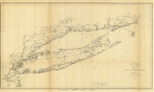Annual Report 1851. Sketch B. No. 2 Showing the Triangulation &Geographical Positions in Section No. II From New York City to Point Judith.