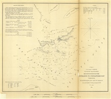 Annual Report 1851.  Sketch C No. 2 Reconnoissance of the Entrance toChesapeake Bay Virginia