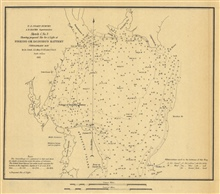 Annual Report 1851.  Sketch C. No.3 Showing proposed Site for a Light atFishing or Donoho's Battery Chesapeake Bay