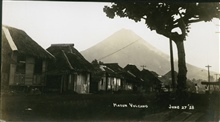 Mount Mayon on June 27, 1928, looming above Legaspi.