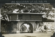 The old Spanish Gate at Jolo.
