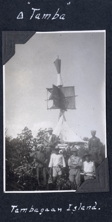 Building and observing crew at Station Tamba on Tambagaan Island.  BillScaife is second from right on bottom.
