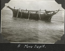 A Moro sapit, a moderate-sized vessel that could be rowed during periods of calm.
