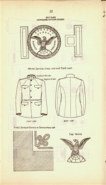 Belt plate, cap device and other uniform paraphernalia of USC&GS.;In: Changes in Uniform Regulations. [Approved by the Secretary of CommerceJune 27, 1917.]