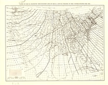 Lines of equal magnetic declination and equal annual change for 1935.