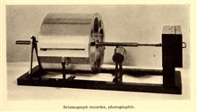 Photographic seismic recorder as illustrated in: Coming to Grips with theEarthquake Problem, by Nicholas H. Heck, 1931.  Journal of the FranklinInstitute, Vol. 212, No. 3, pp. 269-303.