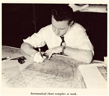 Aeronautical chart compiler at work.  In: The Coast and GeodeticSurvey: Its Products and Services, 1965.  57 pp.