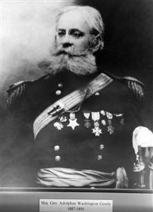 Major General Adolphus Washington Greely, head of the weather service, 1887-1891.