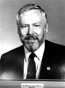 Dr. Elbert W. Joe Friday, head of the National Weather Service, 1988-1997.