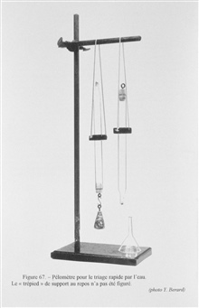 Figure 67. Pelometer for the rapid sorting of sediments in water.  ProfessorJulien Thoulet used this device on board research ships to rapidly determine the nature of seafloor sediments.  It would allow quick classification into asingle category such