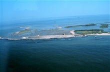 The Gulf of Mexico at the west end of the project.