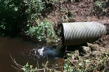 An image of the culvert that was removed and replaced.